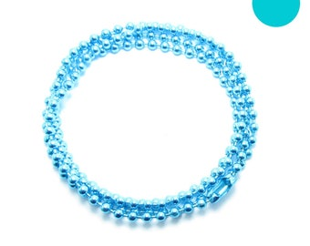 NECKLACE 60cm ball chain 2.2 mm TURQUOISE