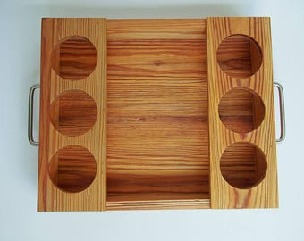 Reclaimed pine serving tray