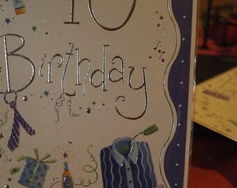 Male 40th Birthday Card
