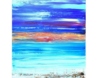 ART SALE Landscape Paintings, Canvas art, quotes, Sunset, Ocean, Painting, abstract art, artwork,Wall Art, original, artwork, texture, Katey