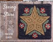 Seeing Stars PDF/Digital Rug Hooking Pattern
