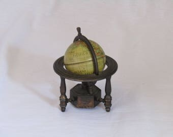 70's Spanish iron cast pencil sharpener shaped as an old globe. vintage pencil sharpener, play me metal pencil sharpener, pencil sharpener .
