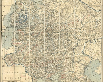 Poster, Many Sizes Available; Map Of Western Russia 1918