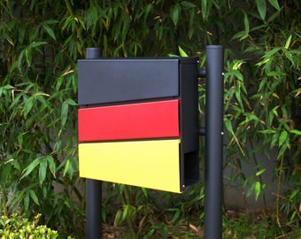 Stainless Steel MPB932D Mailbox and MPB502B Post Modern Urban Style