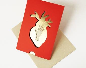 Carte St Valentin en papier découpé réalisé à la main Expression Française /// CLAIRE COLIN