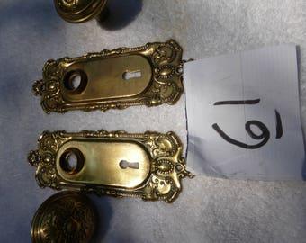 Vintage, antique, brass Victorian-door-hardware-set-61-25
