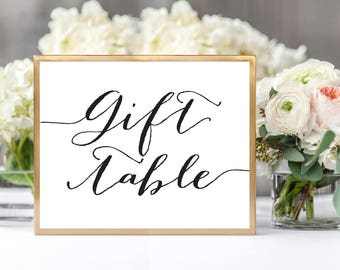 Wedding gift table etsy gift table sign template in two sizes wedding gift table sign diy sign printable negle Gallery