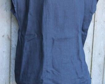 Blue Linen Top