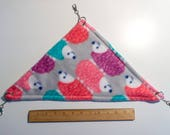 Hedgehog Print Hanging Corner Hammock for Rats, Hamsters, Guinea Pigs, Chinchillas, Ferrets, Chinchillas, and other Small Animals