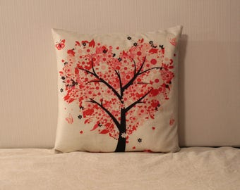 Lush Heart-Shaped Pink Plush Pillow