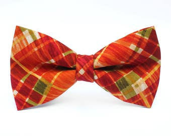 Crazy Plaid Bow Tie, Bowtie, Dog Bow Tie, Mens Bow Tie, Boys Bow Tie, Kids Bow Tie, Toddler Bow Tie, Bow Tie, For Him