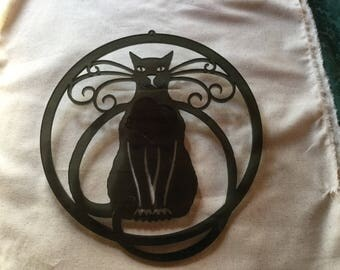 Black Acrylic Cat Ornament