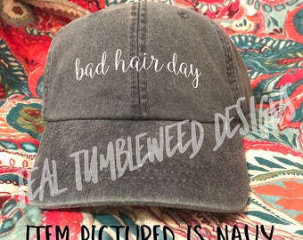 Bad Hair Day Baseball Cap | Hat | Custom | Personalized | Bad Hair Day | baseball | Cap