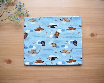 cute funny dachshund Fabric 1/2 yard