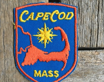 LAST ONE! Cape Cod Massachusetts Vintage Souvenir Travel Patch from Voyager