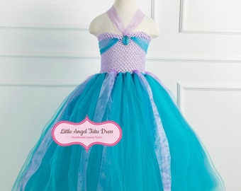 NEW Ariel Tutu Dress. Ariel The Little Mermaid. Handmade Tutu Dress. Princess Ariel. Ariel Costume. Ariel Fancy Dress. World Book Day
