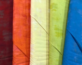 Rainbow Grunge Basics Fabric Bundle - Moda Fabrics