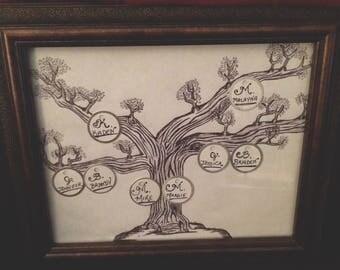 8 X 10 Custom Family Tree