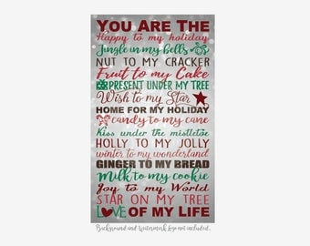 You are the... Christmas Phrases Vinyl Decal