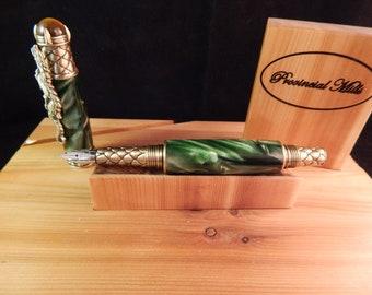 Green Emerald Dragon Fountain Pen #FP10173