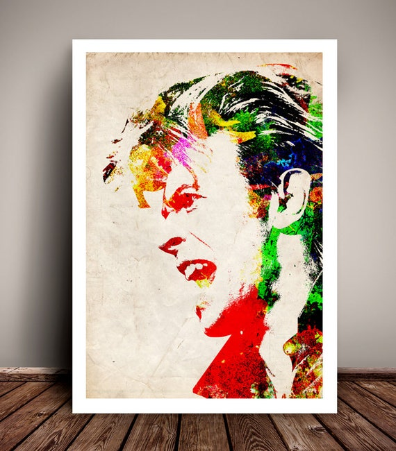 David Bowie // Stencil Effect //Music Poster // Unique A4 / A3 Art Print