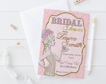 Burlesque Bridal Shower Printable Invitation