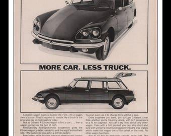 "Vintage Print Ad 1960s : Citroen Automobile Car Wall Art Decor 8.5"" x 11"" each Advertisement"