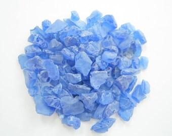 Opal Blue Sea Glass-Tumbled Beach Glass-Sea Glass-Man Made Beach Glass-Beach Home Decor-Sea Glass Bulk-Beach Glass Pieces-Beach Glass