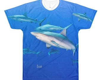 Reef Shark School Sublimation men's crewneck t-shirt