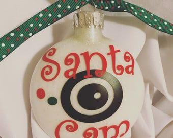 Santa Cam Ornament// Santa ornament