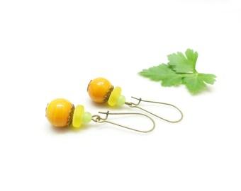 Sparkling earrings ~; ~ pearls Acidulees. ~ ~