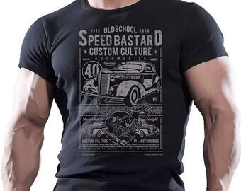 OldSchool Speed Bastard. Black T-shirt