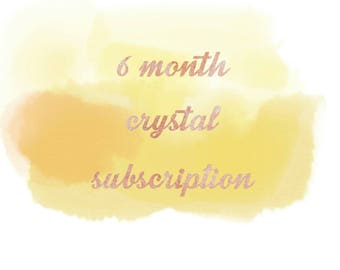 Crystal Subscription Box ~ 6 Month Subscription ~ Monthly Subscription Box ~ Monthly Crystal Box ~ Crystal Gift ~ Crystal Gift Set