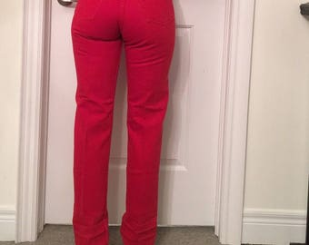 Levis 501 red jeans 25