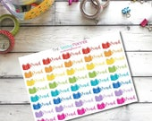 CLEARANCE SALE G11 Read ~ Reading ~ Library ~ Book Planner Stickers for Erin Condren Life Planner