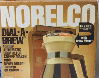NORELCO Dial A Brew New In The Box, Brew Miser, Vintage Drip Coffee Maker - 10 Cup