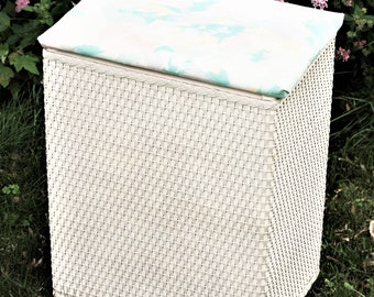 ivory wicker clothes hamper vintage clothes storage