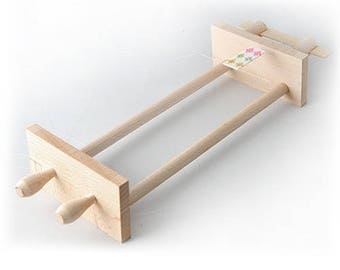 Hand loom, wooden beads