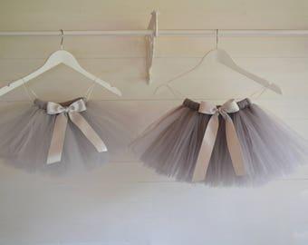 Flower Girl Grey Tutu Girls Baby Skirt Ballet