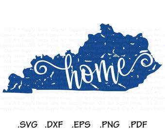Distressed Kentucky SVG, Southern SVG, State SVG, Kentucky Home, Vector Art File, Cricut Design Space, Silhouette Digital Cut Files - CA468