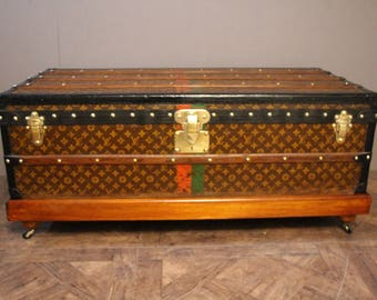 1930' Louis Vuitton Steamer Trunk in Monogram Canvas