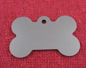 """Dog Bone Stainless Steel Engraving Blanks, 1 3/4"""" x 1 1/8"""", 18 Ga Thick, 5 Pcs, Made in USA, Deburred and Burnished,"""