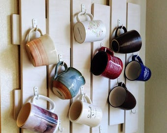Coffee Cup Display Board with Hooks