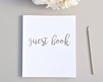 """Fast Shipping > Polaroid Guest Book Instax Guest Book Wedding Alternative. Flat-Lay, Premium Cardstock Rose Gold Embossed, 8.5""""x7"""", 100 pgs"""