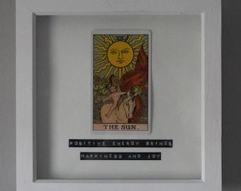 Framed tarot art The sun