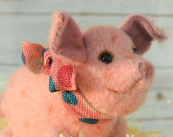 Mohair Pot Belly Pig - Teddy bear piglet