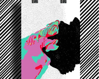 Poster poster / Girl in Cosmos / graphic Illustration