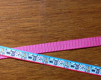 Cat or Dog 3/8 Wide Custom Made Alice in Wonderland  Grosgrain Collar