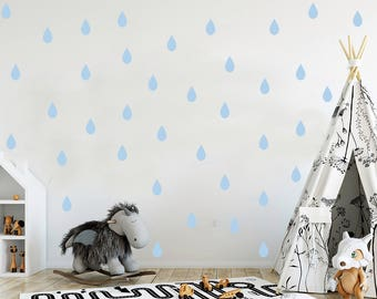 Raindrop wall decal, wall decal, rain wall decal, pattern wall decal, raindrop wall stickers, wall stickers, nursery wall decal, gold decals