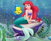 Custom Ariel Themed Backdrop for Liz A.